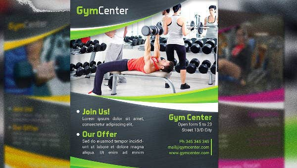 7gym fitness flyers file formats