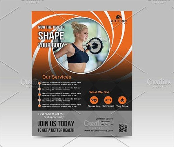 sports fitness club flyer