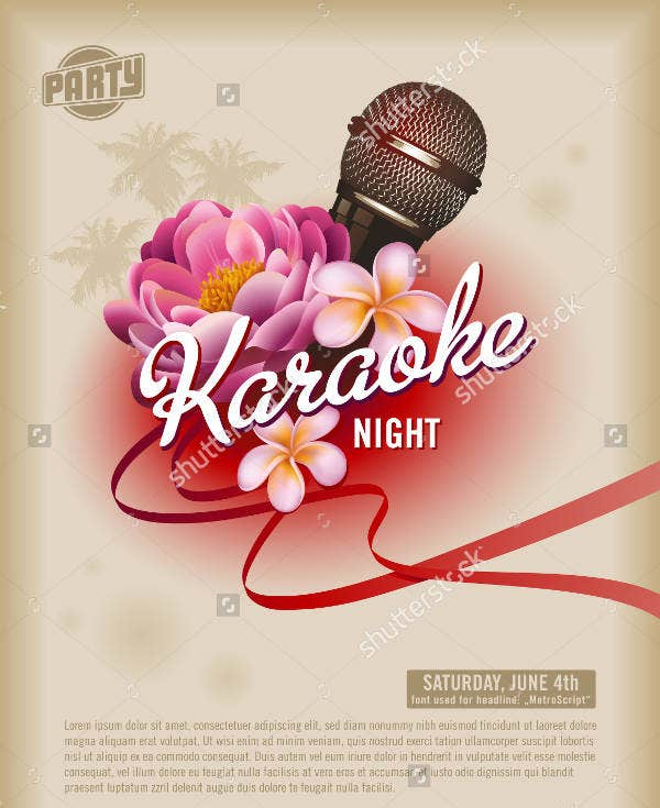 Karaoke Club Party Flyer