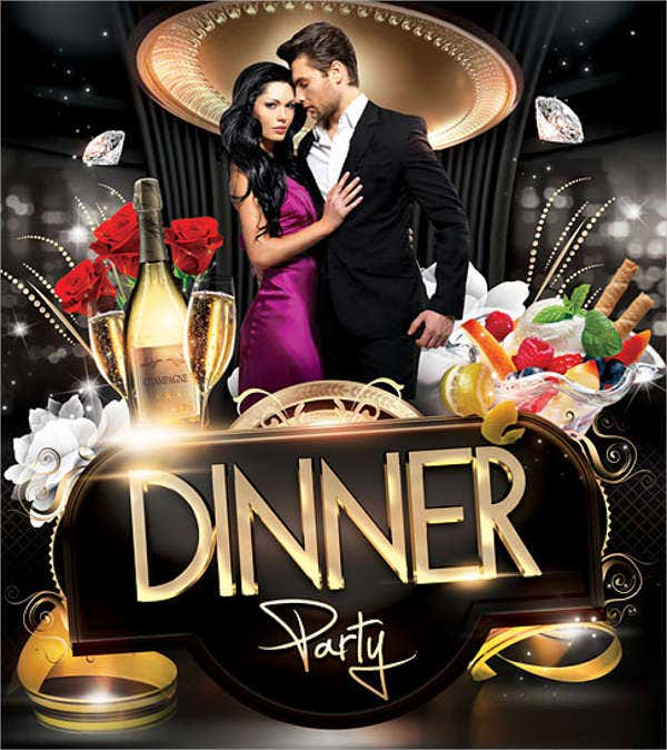 7+ Dinner Party Flyers - Design, Templates | Free & Premium Templates