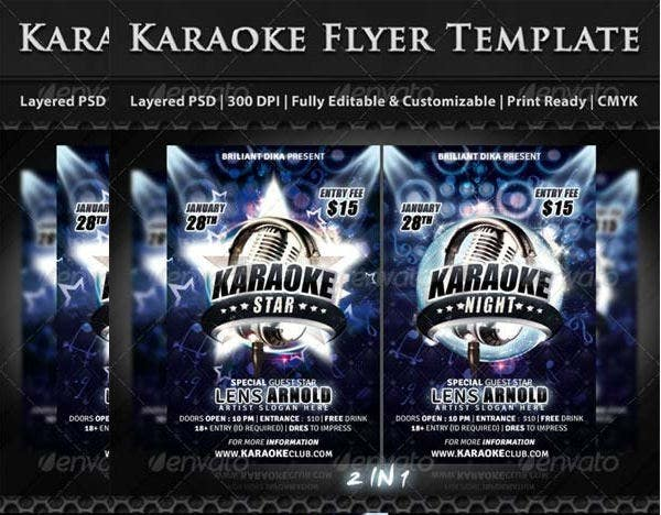 Karaoke Star Night Party Flyer