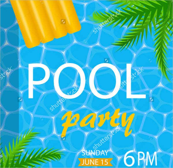 8 pool party flyers free psd pdf vector eps indesign file