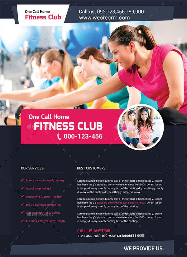 fitness club promotion flyer1