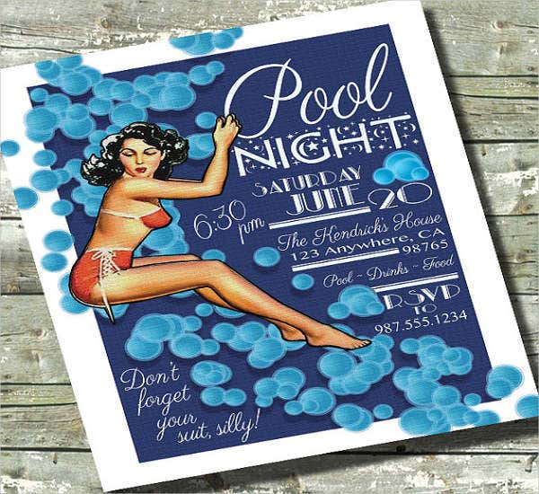 pool night party flyer1