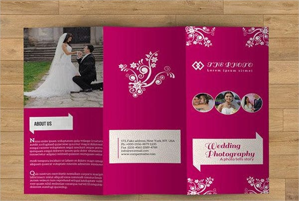 wedding event management brochure