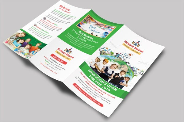 School Education Tri-fold Brochure