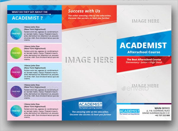 A4 Education Tri-fold Brochure