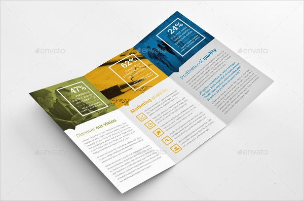 Business Branding & Education Tri-fold Brochures