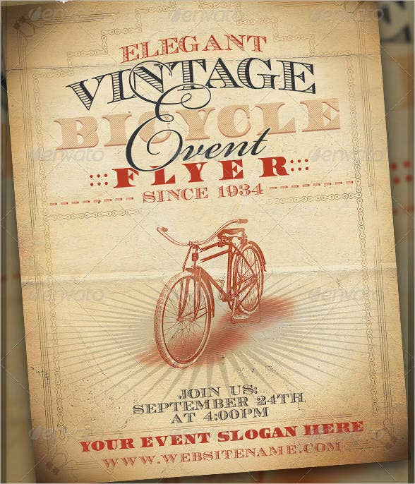 Vintage Bicycle Event Flyer