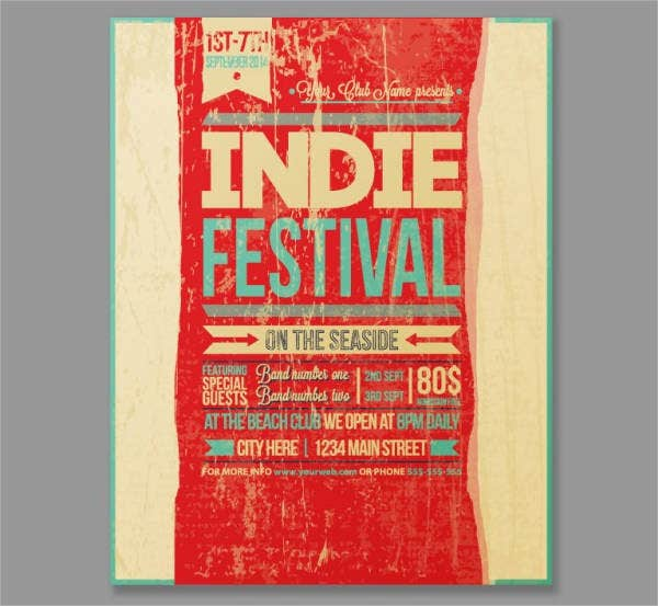 Grunge Vintage Event Flyer