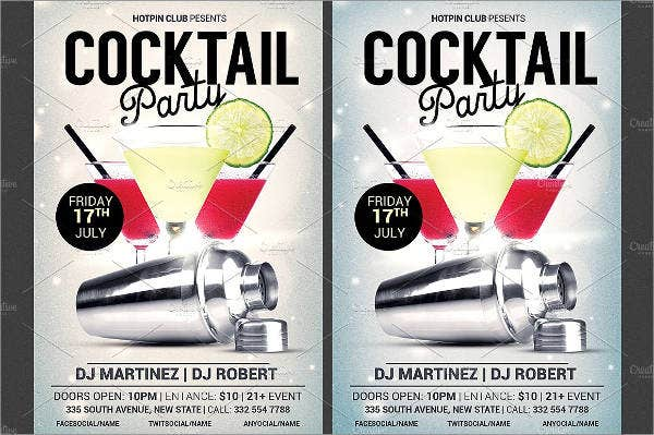 Cocktail and Drink Party Flyer