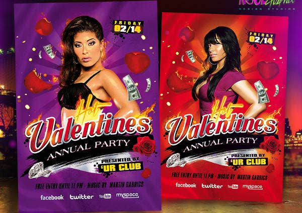 Valentine Celebrations Flyer