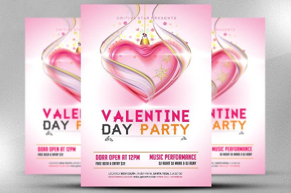 Happy Valentine Party Flyer