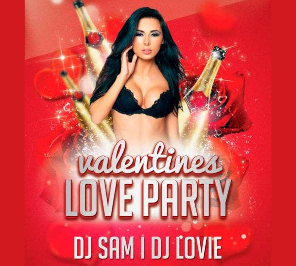 Free PSD Valentine Party Flyer