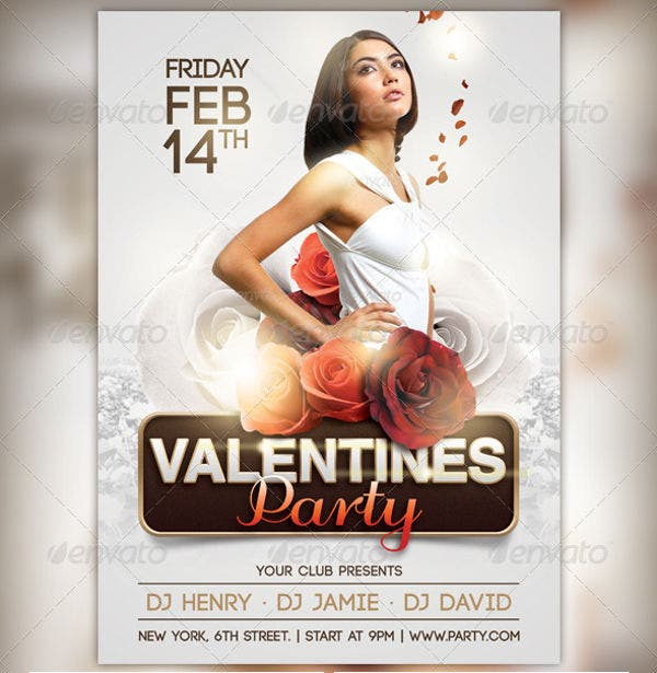 Elegant Valentine Party Flyer