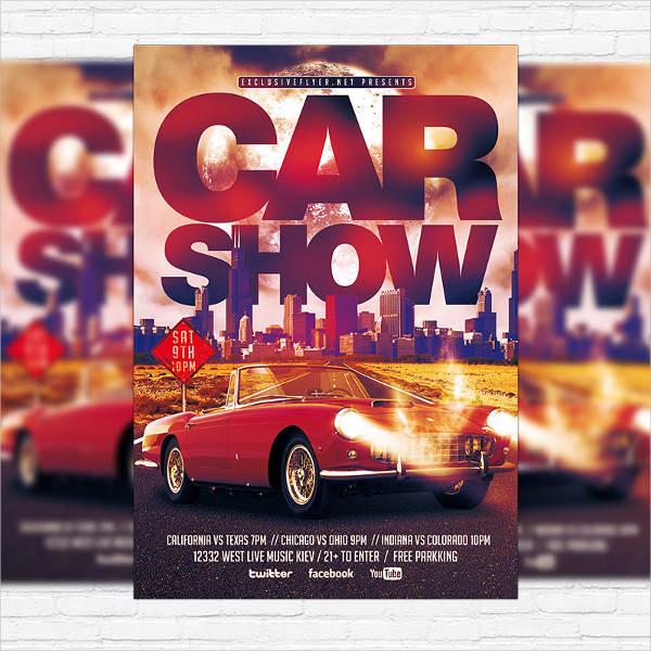 Vintage Car Show Event Flyer
