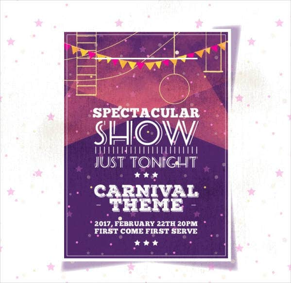 Vintage Carnival Event Flyer