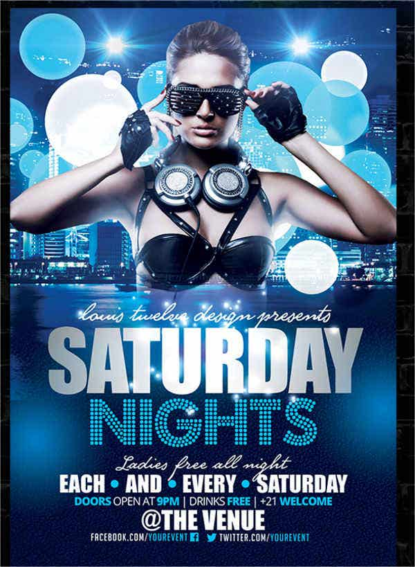 10 Nightclub Party Flyers Design Templates – Night Club Flyer