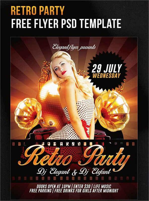 Free PSD Vintage Event Flyer