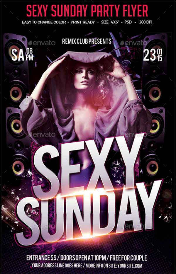 sexy-sundays-nightclub-party-flyer