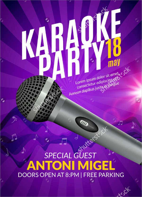 karaoke-night-party-flyer