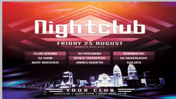 nightclub party flyers