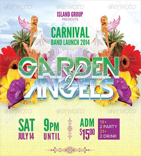 carnival band launch party flyer