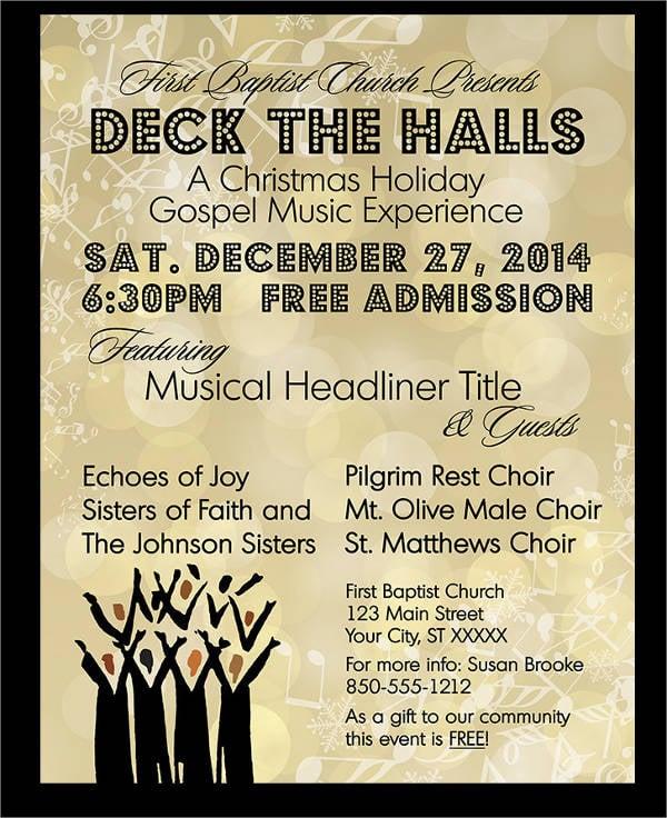 music concert event flyer