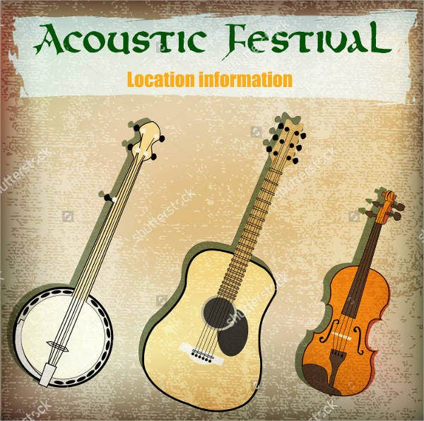Acoustic Music Event Flyer