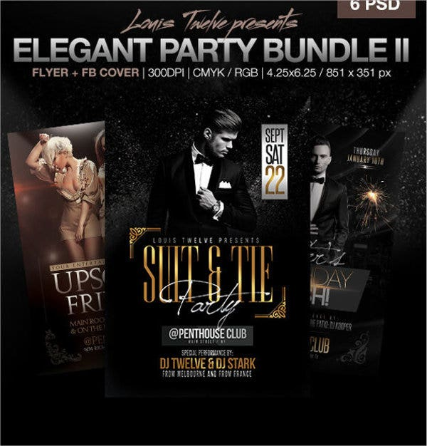 elegant party event flyer1
