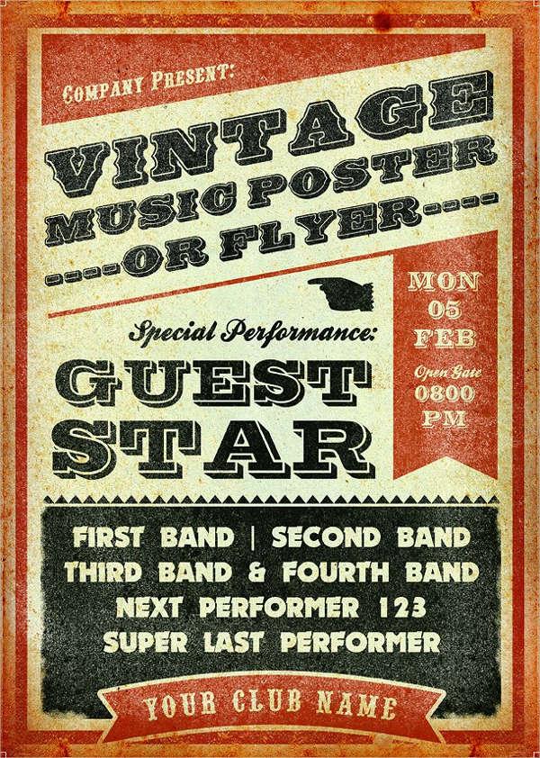 vintage music event flyer2