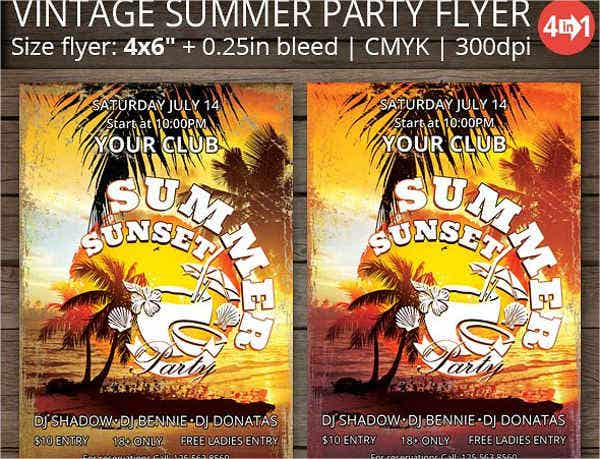 vintage summer party flyer