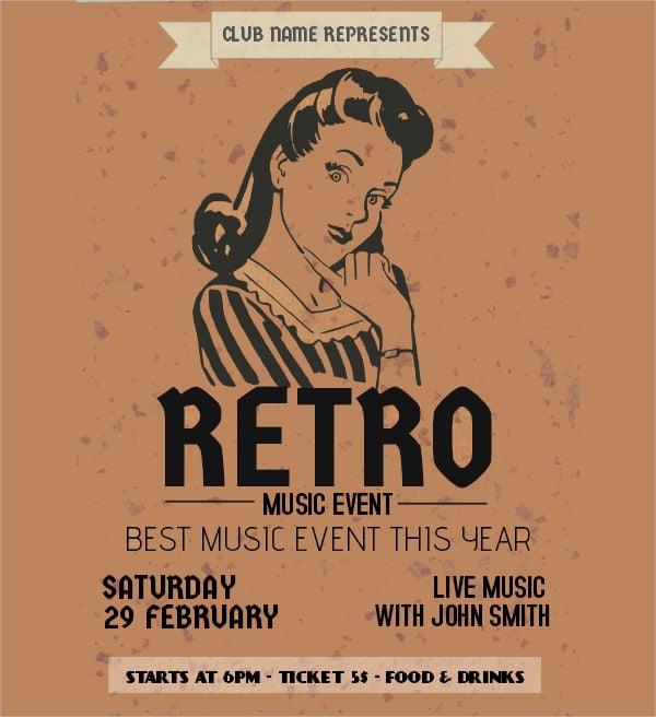 retro music event flyer1
