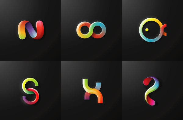 free gradient logo