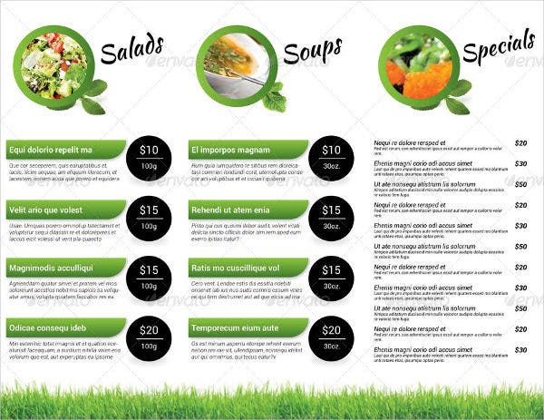 Green Food Trifold Brochure