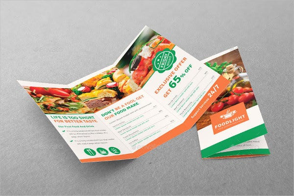 Modern Restaurant Tri-fold Food Brochure
