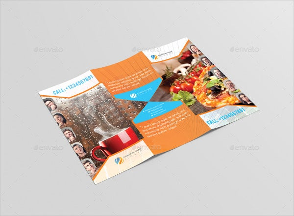 Foodina Tri-fold Food and Restaurant Brochure