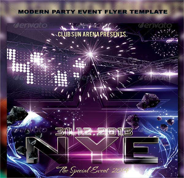 modern party event flyer