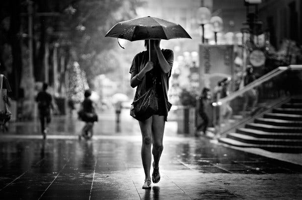 Walking In The Rain Photography