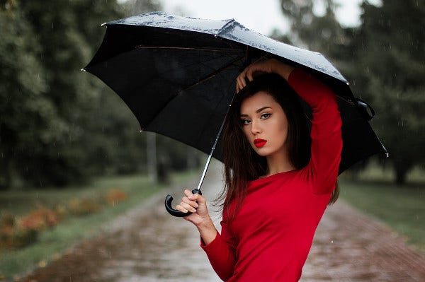 Portrait photography in Rain