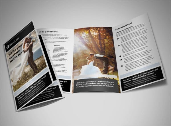 8 business event flyers design templates free for Wedding planner brochure template