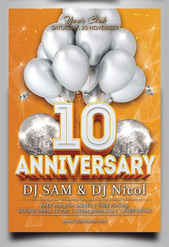 anniversary-party-invitation-flyer