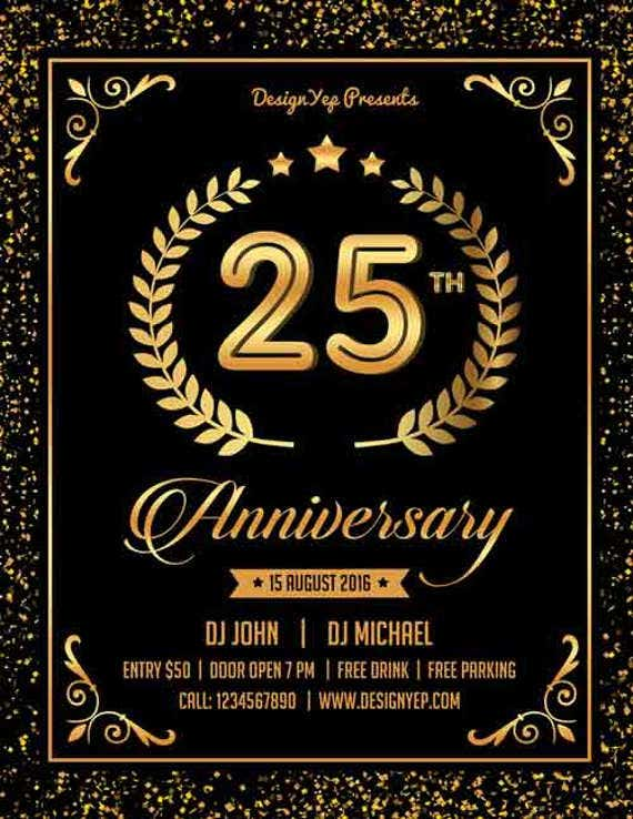 free-psd-anniversary-party-flyer