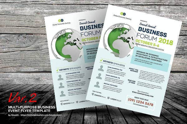 corporate business event brochure