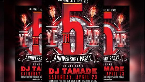 anniversary party flyer1