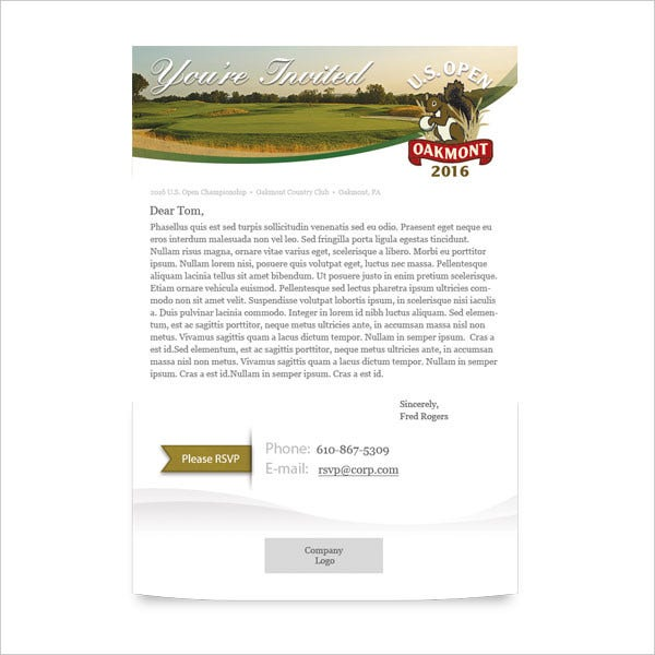 Sample Email Invitation Template