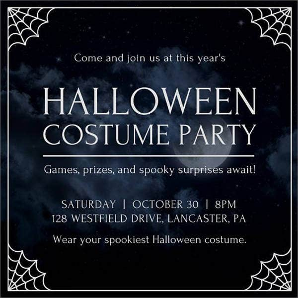 Halloween Party Invitation Banner