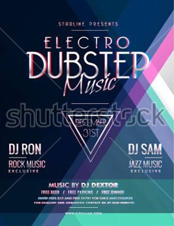 electro-music-party-flyer