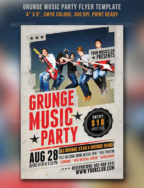 grunge-music-party-flyer