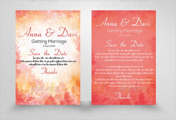 Sample Invitation Card Template